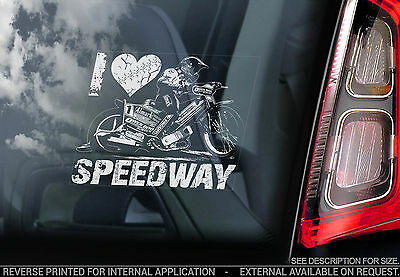 I Love Speedway - Car Window Sticker -  Coventry Bees Motorbike Racing - TYP2