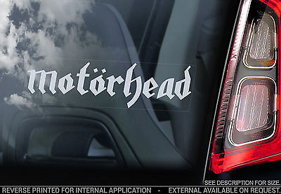 Motorhead - Car Window Sticker - War Pig Rock Lemmy Sign Decal Font Lemmy- V05