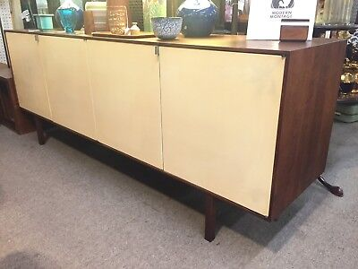 Early Vintage Florence Knoll Credenza Sideboard Mid-century Modern White Panels