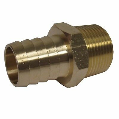 New (2) Pk. Brass 1 In. Mnpt X Hose Barb Straight Fitting For 1 In. Id Hose Nib