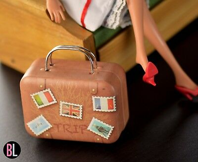 Barbie doll METAL CASE travel luggage suitcase world travelor