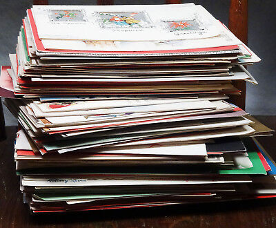 20s-60s Vintage Christmas Cards, BIG Card LOT of 165 PEOPLE Theme