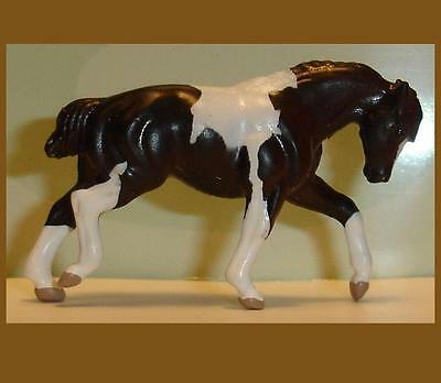 Breyer White on Black PULLING DRAFT HORSE Paint Mini Whinnie from 6 Pinto 300115