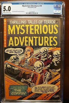 Mysterious Adventures #19 (Story 4/54) Classic Skeletons In A Car Cover Cgc 5.0