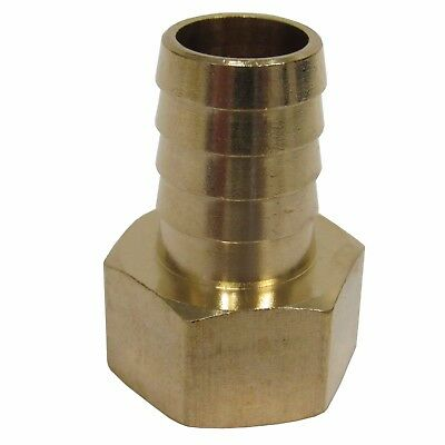 New (2) Pk. Brass 3/4 In. Fnpt X Hose Barb Straight Fitting For 3/4 In. Id Hose