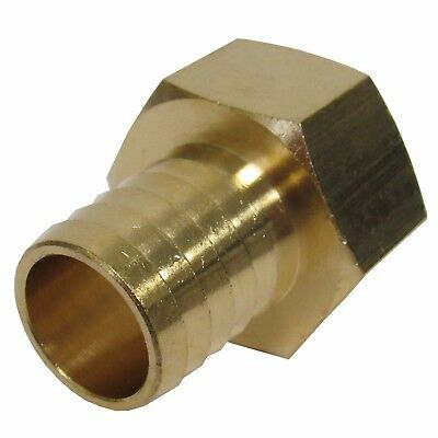 New (2) Pk. Brass 1 In. Fnpt X Hose Barb Straight Fitting For 1 In. Id Hose
