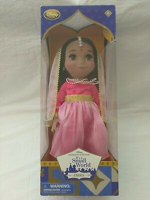 "Disney Animators' Collection It's a Small World 16"" Singing Doll India NEW!"