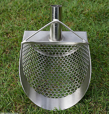 SITO- 200mm Wide 2.0mm Thick (Hexagonal Holes) Stainless Steel Beach Sand Scoop