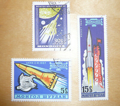 stamps - Mongolia - rockets