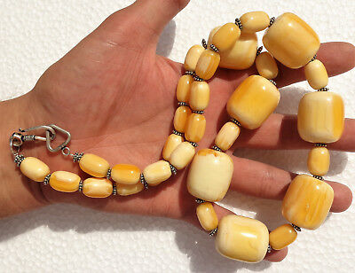 Plastic, Resin, FAKE amber butterscotch, ethnic necklace