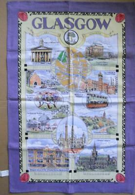Souvenir Tea Towel GLASGOW 100% Cotton New UNUSED