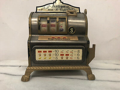 Slot Machine + Lighter - Small (Bingo Palace and Casino) - Vintage Antique