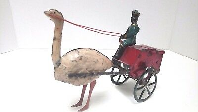 """LEHMANN AFRICA""  ANTIQUE TIN TOY GERMANY ,STRING WIND ,Made from 1889 to 1918"