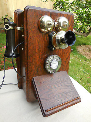 Vintage Telephone British Ericsson Dial Wall Phone C1935   *Superb*