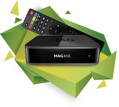 MAG 410 IPTV Set Box Android 6.0 4K and HEVC support Built-in Wi-Fi