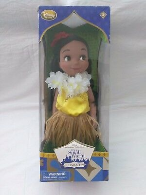 "Disney Animators' Collection It's a Small World 16"" Singing Doll Hawaii"