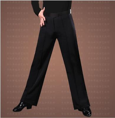 Men's Loose Stage Costume Modern Ballroom Latin Dance Practice Pants Trousers Ch