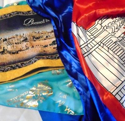 Israel Jerusalem Flad and Banner Lot of (5) Pieces EUC Large Items Jewish 86