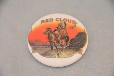 Red Cloud Tobacco Advertising Celluloid Pocket Mirror