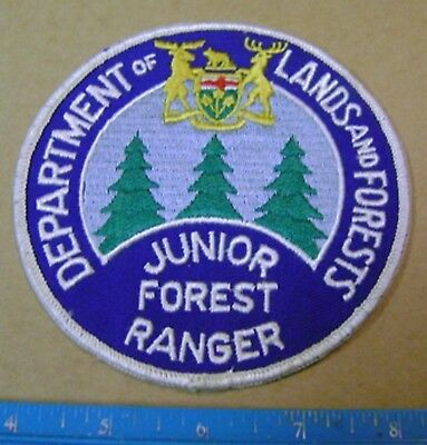 VINTAGE ONTARIO LAND AND FORESTS JUNIOR FOREST RANGER PATCH enforcement,police
