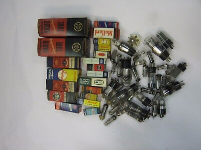 Collection of Vacuum tubes (thermionic valves) some new