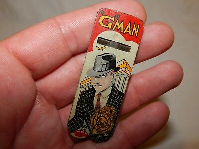 Vintage  G-Man Whistle..100% Original Paint..free Shipping.