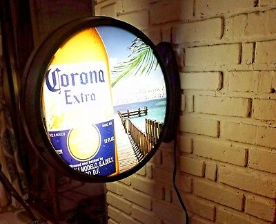 Mancave Real Bar Round Corona Beer Sign Light Non-neon