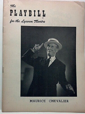 1955 Playbill Maurice Chevalier at Lyceum Theatre 'Song & Impressions'