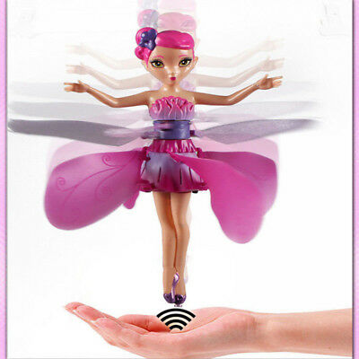 Cute Plastic Funny Game Flying Fairy Princess Infrared Induction Fly Toys Gift