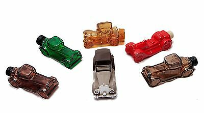 vintage Avon cologne collectables old car decanters lot of 6