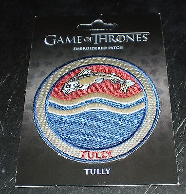 """Game of Thrones """"Tully"""" Embroidered Patch (2012) New! Free Shipping!"""