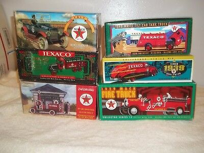 LOT OF 6 ERTL TEXACO TRUCK COLLECTIBLE BANKS all new never opened