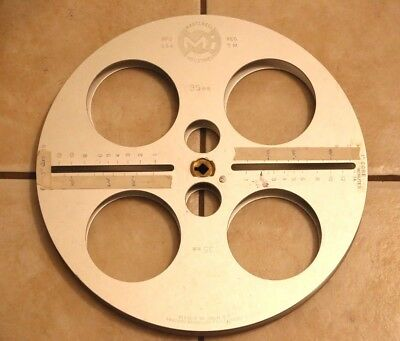 Professional 16mm Film Heavy Duty Aluminum Split Reel Winding Editing Rewinding