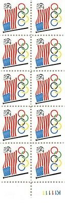 FLAG AND OLYMPIC RINGS	BOOKLET PANE	Scott #	2528A	FACE VALUE	$2.90 	BP000003