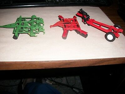 Green Cultivator And Disc- Red Disc- Boat Trailer Diecast