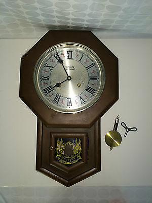 Vintage Southern Clock Company Wall Wood Wooden