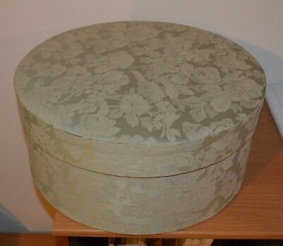 Vintage Look Cloth Covered HAT BOX Green