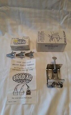 Braid Aid Braid-Aid  3 3 Way and Braid Klamp Braid-Klamp IOB NOS