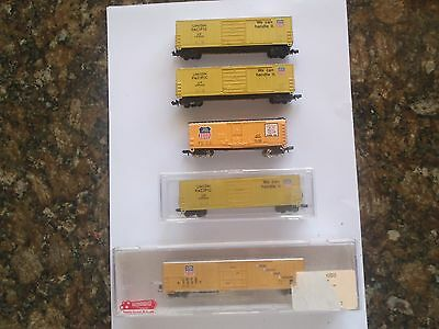 Model Trains N Scale 5 Union Pacific Cars