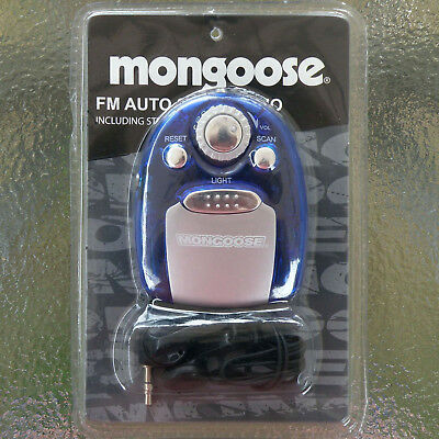 Mongoose Fm Auto Scan Pocket Transistor Radio +Earphones, New In Factory Packing