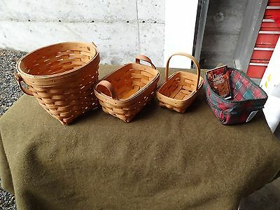 Lot Of Three Longaberger Baskets..year ,2000,excellent Condition,all Signed