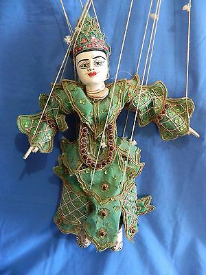 Vintage Asian String Puppet Doll Collectable