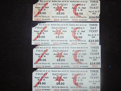 1969 Woodstock tickets