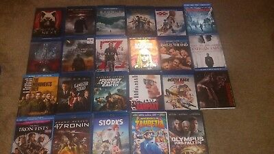 21 blu ray movies lot and 2 Dvds..action adventure horror sci fi kids