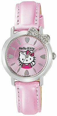 Hello Kitty CITIZEN Q & Q Watch Analog Leather Belt made in Japan Pink