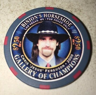 Binion's Horseshoe $2.50 Casino Chip Las Vegas Nevada 2.99 Shipping