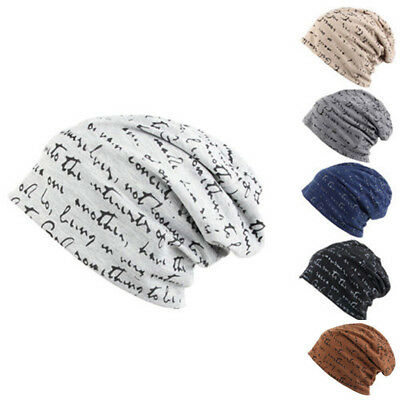Mens Womens Fashion Hip-Hop Warm Winter Cotton Slouch Ski Beanie Skull Cap Hat