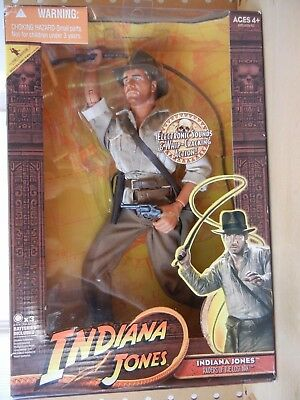 """Raiders of the Lost Ark 12"""" INDIANA JONES Electronic Sounds WHIP CRACKING ACTION"""
