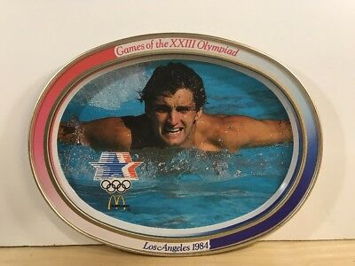 McDONALD'S METAL TIN OVAL TRAY 1984 OLYMPICS LOS ANGELES COLLECTIBLE #3