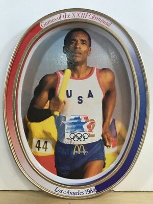 McDONALD'S METAL TIN OVAL TRAY 1984 OLYMPICS LOS ANGELES COLLECTIBLE #1